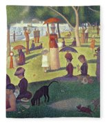 Sunday Afternoon On The Island Of La Grande Jatte Fleece Blanket