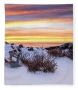 Sunrise At Marginal Way Fleece Blanket