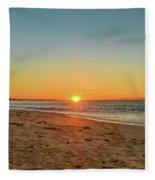 Sunrise Beach Seascape Fleece Blanket