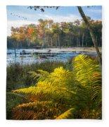 Sunrise In The Swamp Fleece Blanket