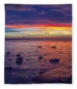 Sunset At Mauritius Fleece Blanket
