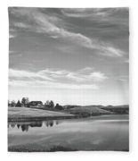 Sunset Clouds Over Wyoming Fleece Blanket