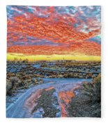 Sunset In El Prado Fleece Blanket
