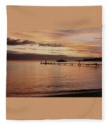 Sunset In Paradise Fleece Blanket