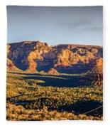 Sunset In Sedona Fleece Blanket