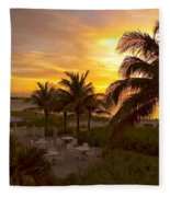 Sunset On Grace Bay Fleece Blanket