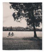 Sunset @park Fleece Blanket