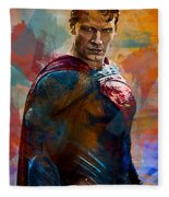 Superhero.superman. Fleece Blanket