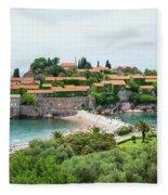Sveti Stefan, Montenegro Fleece Blanket