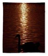 Swan Silhouette Fleece Blanket