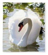 Sweet Swan 2 Fleece Blanket