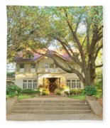 Swiss Avenue Historic Mansion Dallas Texas Fleece Blanket