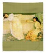 Symphony In White No 3 James Abbott Mcneill Whistler Fleece Blanket