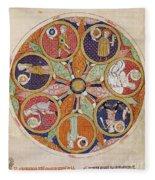 Table Of Planets Fleece Blanket