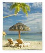 Tahiti, Bora Bora Fleece Blanket