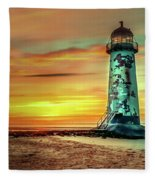 Talacre Lighthouse - Wales Fleece Blanket