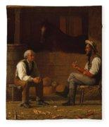 Talking It Over , Enoch Wood Perry  Fleece Blanket