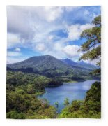 Tamblingan Lake - Bali Fleece Blanket