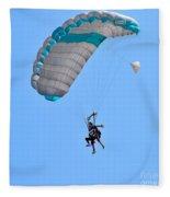 Tandem Paragliding Fleece Blanket
