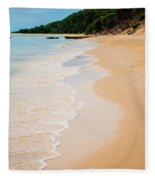 Tangalooma Island Beach In Moreton Bay.  Fleece Blanket