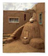Taos Pueblo Fleece Blanket