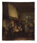 Tavern Scene Fleece Blanket