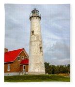 Tawas Point Lighthouse - Lower Peninsula, Mi Fleece Blanket