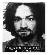 Charles Manson Mug Shot 1969 Vertical  Fleece Blanket