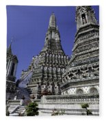 Temple Detail In Bangkok Thialand Fleece Blanket