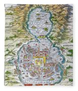Tenochtitlan (mexico City) Fleece Blanket