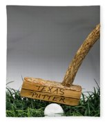 Texas Golf Putter. Fleece Blanket