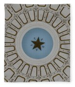 Texas State Capitol - Interior Dome Fleece Blanket