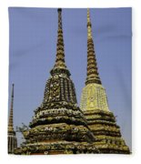 Thailand Architecture Fleece Blanket