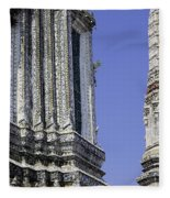 Thailand Temple Architecture Fleece Blanket