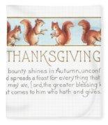 Thanksgiving Card Fleece Blanket