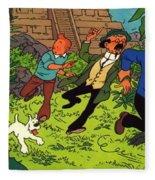 The Adventures Of Tintin Fleece Blanket