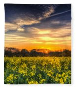 The April Farm Fleece Blanket