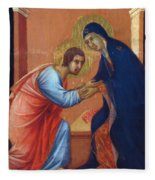The Arrival Of The Apostles To The Virgin Fragment 1311  Fleece Blanket