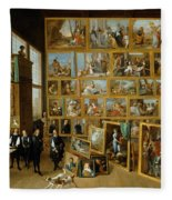 The Art Collection Of Archduke Leopold Wilhelm In Brussels Fleece Blanket