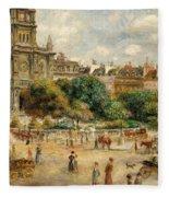 Place De La Trinite, 1893 Fleece Blanket