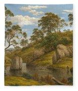 The Bath Of Diana. Van Diemen's Land Fleece Blanket