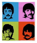 The Beatles Colors Fleece Blanket