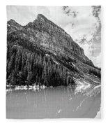 The Beauty Of Lake Louise Bw Fleece Blanket