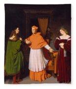 The Betrothal Of Raphael And The Niece Of Cardinal Bibbiena Fleece Blanket