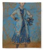 The Blue Girl Fleece Blanket