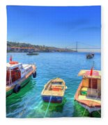 The Bosphorus Istanbul Fleece Blanket