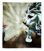 The Boy And The Lion 3 Fleece Blanket