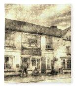 The Bull Pub Theydon Bois Vintage Fleece Blanket