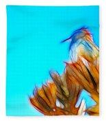 The Cactus Wren Fleece Blanket