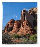 The Chapel Of The Holy Cross Fleece Blanket